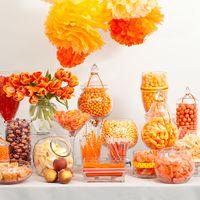 Candy bar в оранжевом цвете.