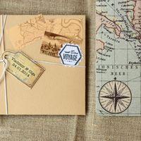 приглашения винтаж+карты