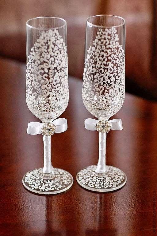 бокалы свадебные, ручная роспись - фото 1434837 Студия свадебного декора - Be Shik