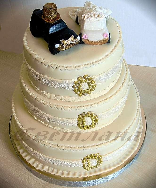 """Фото 1379007 в коллекции Свадебный торт - Авторские торты """"ТортКаприз"""""""