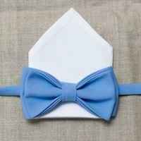 Комплект: белый платочек+голубая бабочка. Стоимость комплекта - 1190р.  Чтобы заказать пишите в л.с.  или по т. +7 950 038 54 26