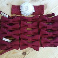 Комплект бабочек и подвязка цвета марсала на свадьбу.  Стоимость комплекта 7990 р. (с учетом бирочек)  Чтобы заказать пишите в л.с.  или по т. +7 950 038 54 26