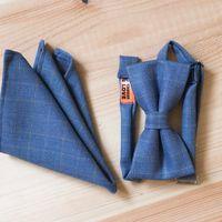 Галстук-бабочка и карманный платочек синего цвета. Стоимость комплекта 1190р.  Чтобы заказать пишите в л.с.  или по т. +7 950 038 54 26