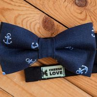 Галстук-бабочка синяя с якорями. Стоимость галстука-бабочки 790р.  Чтобы заказать пишите в л.с.