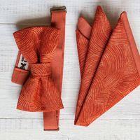 Комплект рыжая бабочка и платочек. Фурнитура металлическая. Размер бабочки 6х11см. Цена 1200 р. Отправка по всей РФ Чтобы заказать, напишите сюда  Или по телефону 8 952 216 48 01