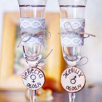 бокалы для рустикальной свадьбы