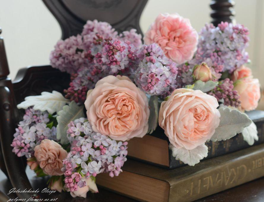 Цветы из полимерной глины. - фото 13009542 Олеся Галущенко - свадебные аксессуары