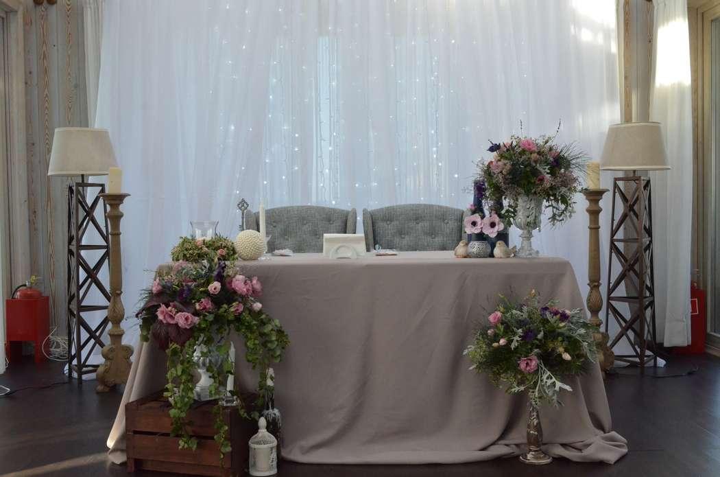 Оформление стола молодых в ресторане Понтон - фото 17569868 Gurudecora - студия декора и флористики