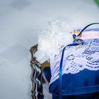 Ягодная свадьба  Подушечка для колец голубичного цвета