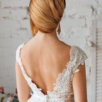 элегантная свадебная прическа на длинные волосы