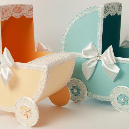 Свадебные коляски, голубая и персиковая