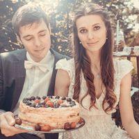 Свадебная фото сессия. Свадебный торт.