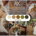 Свадебная палитра, рустик, эко-свадьба