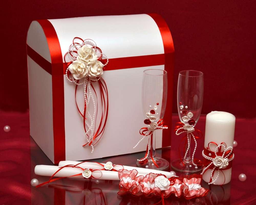 Для свадьбы своими руками бело-красного цвета 93