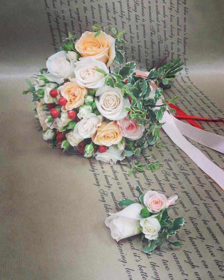 Фото 17092086 в коллекции Букеты наших невест - Цветочка - студия флористики