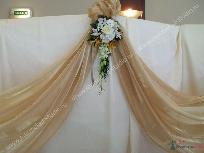 Фото 25820 в коллекции Оформление свадьбы тканями