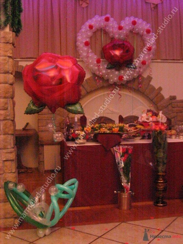 Фото 26257 в коллекции Оформление свадьбы воздушными шарами