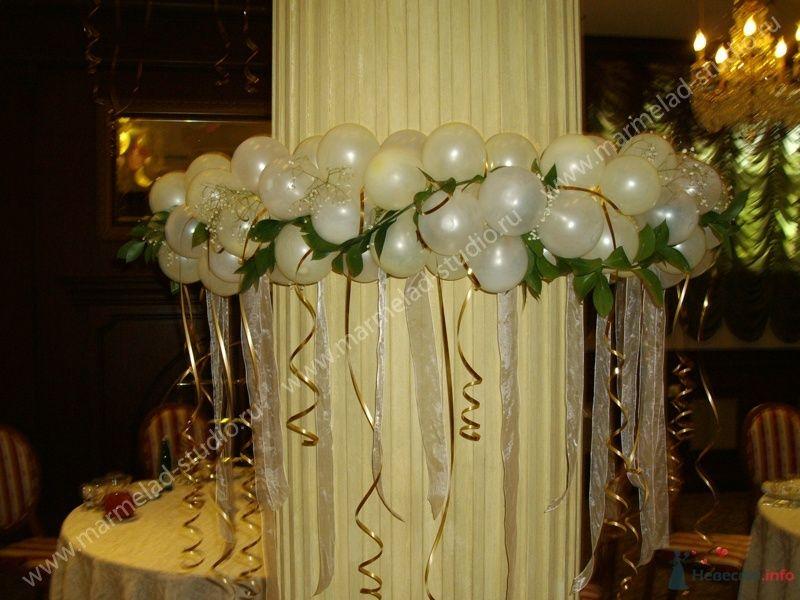 Фото 26287 в коллекции Оформление свадьбы воздушными шарами