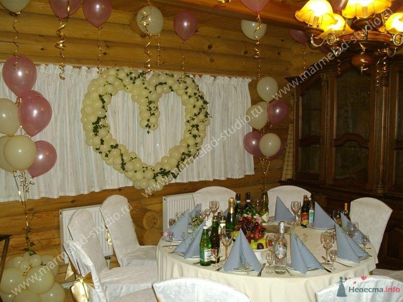 Фото 26303 в коллекции Оформление свадьбы воздушными шарами