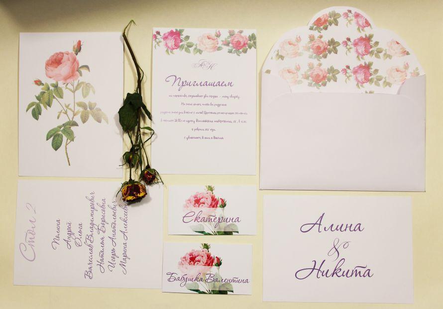 Приглашения на свадьбу в индивидуальных конвертах. Карточки рассадки - фото 16708096 Флорист Юрина Алёна