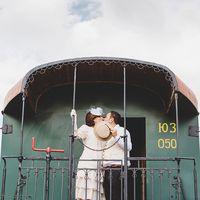 Фотосессия в стиле ретро Великий Гэтсби. Ретро поезд