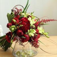 Богемный букет в красном цвете