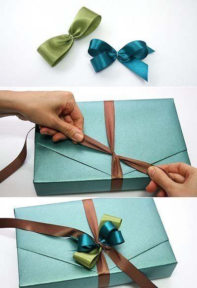 Бант на подарок из лент своими руками