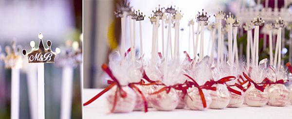бонбоньерки, фамилия молодых Царевы, поэтому царские  кароны в декоре - фото 1563891 Организатор свадеб Глуш Ольга