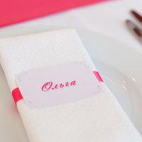 карточка рассадки розовый