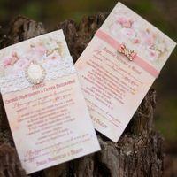 свадебное приглашение брошь