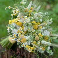 полевой летний букет невесты рустик