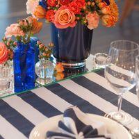 сине-оранжевая свадьба