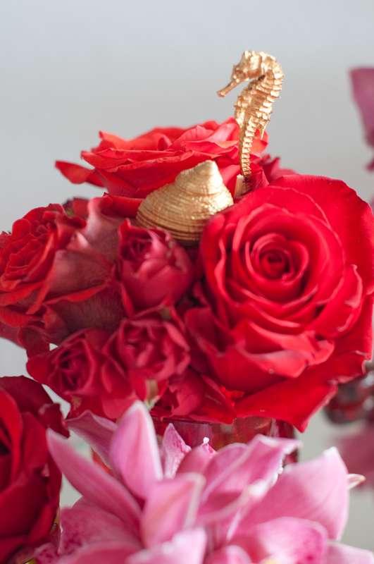 """бордовая морская свадьба - фото 15795560 Студия флористики и декора """"Глориоза"""""""