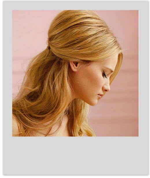 полусобранная прическа на длинные волосы