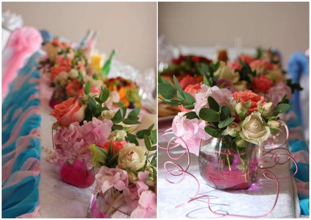 """Композиция на стол молодых в низких вазах - фото 1680453 """"Несен Студио"""" - свадьба продуманная до мелочей"""