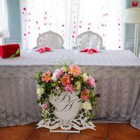 """Цветочное оформление стола молодоженов. Свадебное оформление в загородном клубе """"Скандинавия"""""""