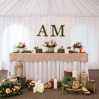 президиум, стол молодоженов, декор/флористика, эко-свадьба