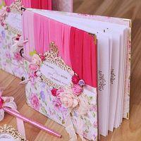 """Книга для пожеланий на свадьбу в стиле """"Омбре"""""""