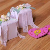 Бонбоньерки - коробочки с презентами для гостей. Изготовление в различной гамме