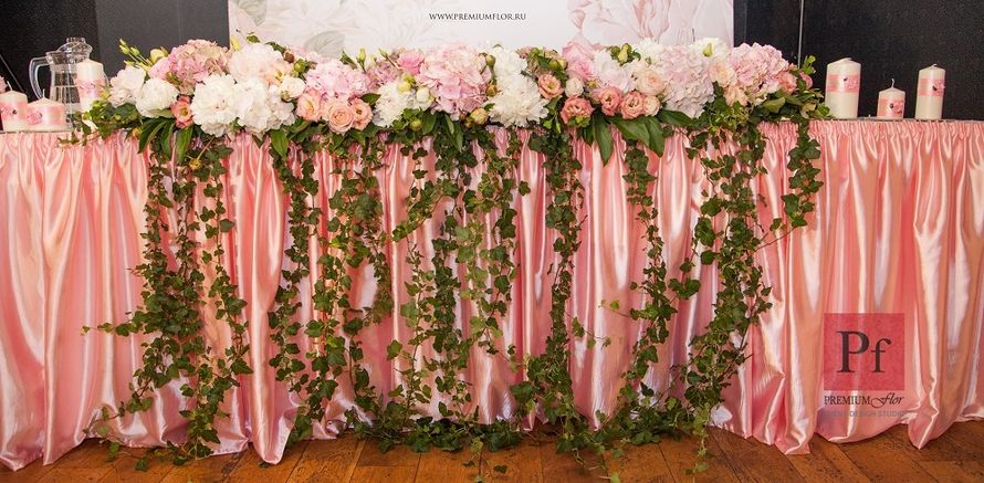 Стол жениха и невесты - фото 3868191 Premiumflor - декор и флористика