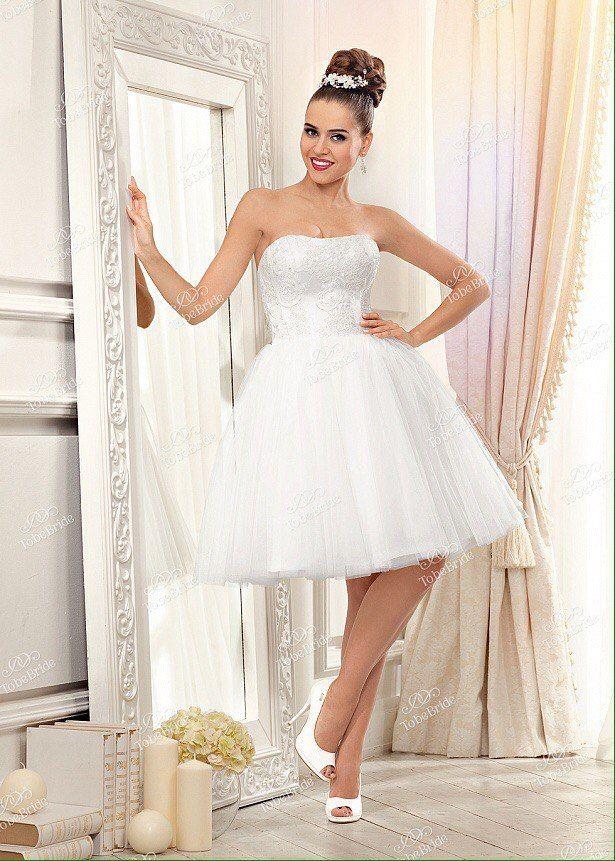 Аренда короткого свадебного платья, модель А843