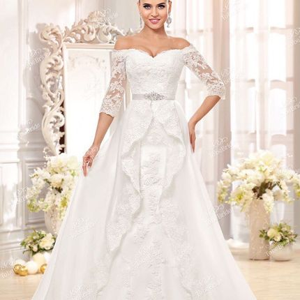 Свадебное платье-трансформер в аренду, модель А965