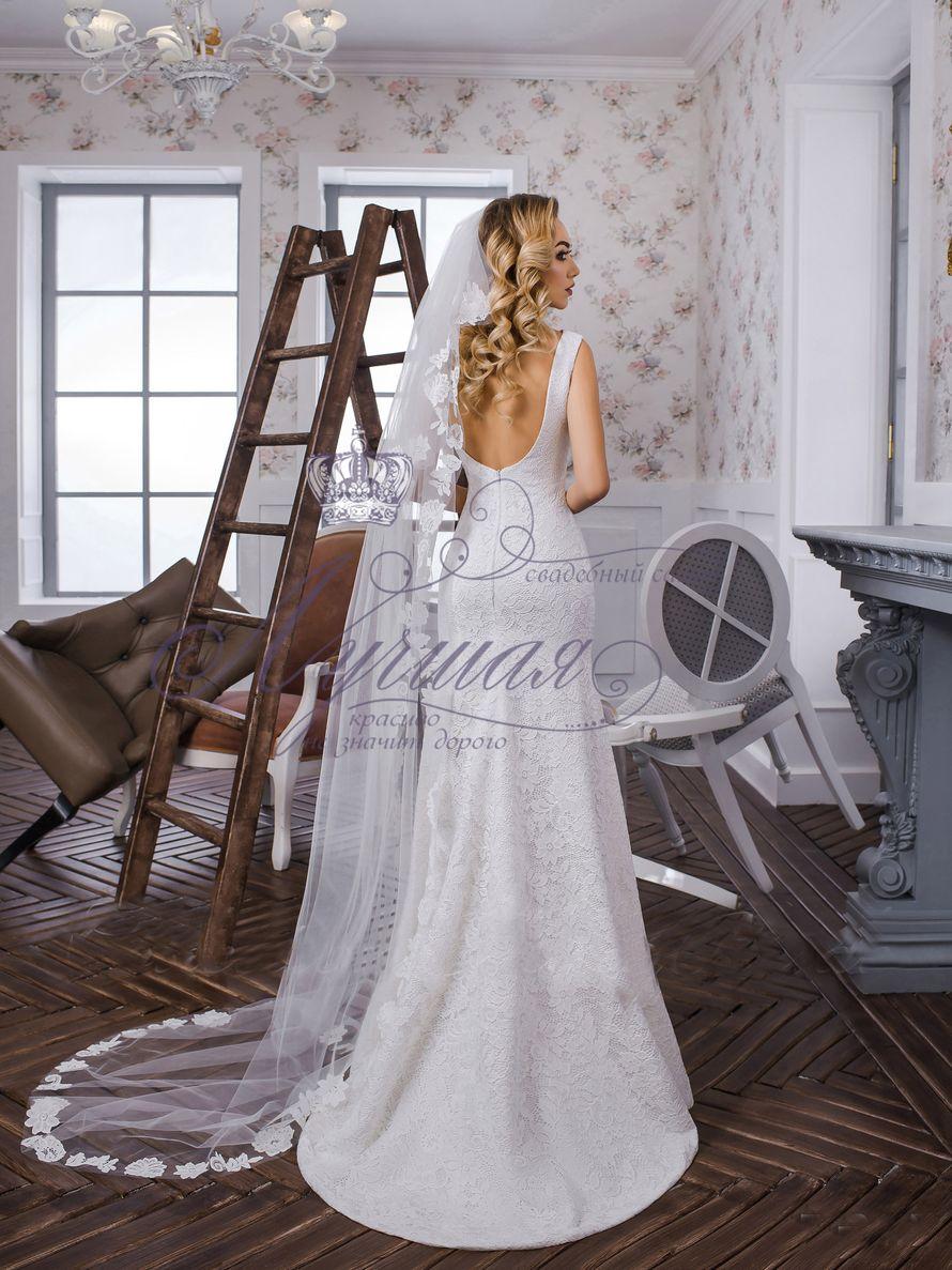 Фата со шлейфом А1326. Покупка НОВОЙ 3.500р. Прокат свадебных платьев от 1.900 р до 14.500р на три дня. Есть отдельно ряд платьев для проката! - фото 17607072 Свадебный салон InLove
