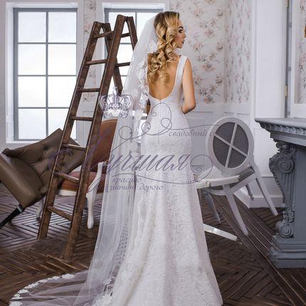 Свадебная фата со шлейфом А1326