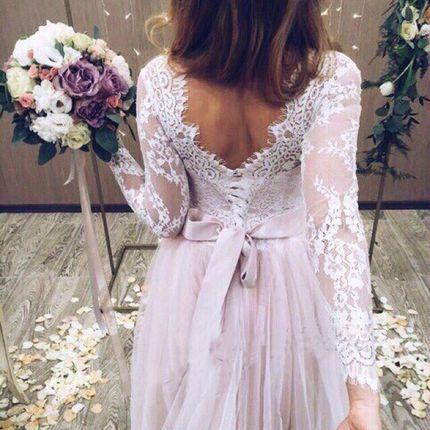 Свадебное платье цвета пудра А1439