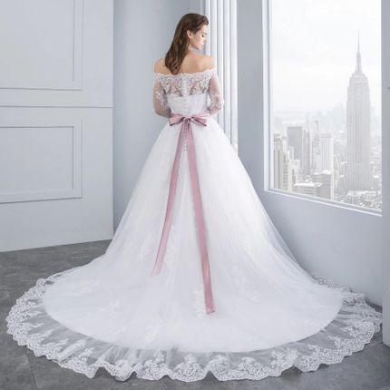 Платье со шлейфом А1456