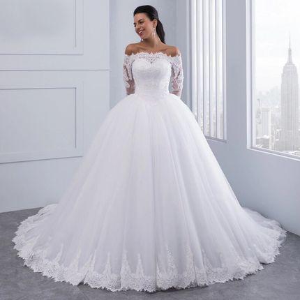 Платье со шлейфом А1459