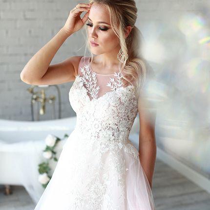 Платье со шлейфом А1499