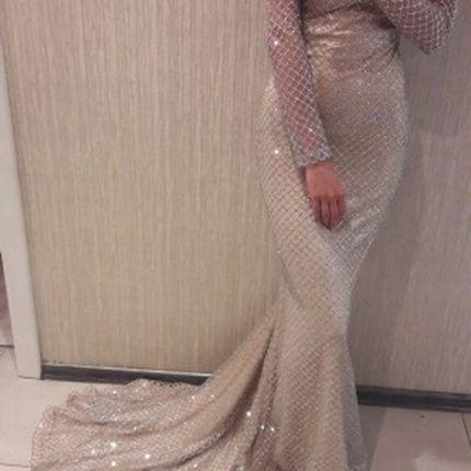 Вечернее платье силуэта рыбка прокат А1544