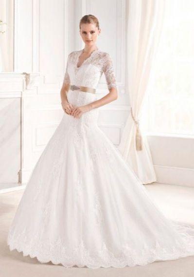 Платье со шлейфом прокат А1585